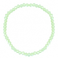 Top faceted bracelets 4x3mm Paradise Green-Pearl Shine Coating