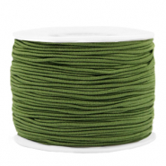 Coloured elastic cord 1.2mm Olive Green