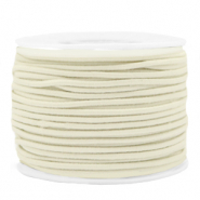 Coloured elastic cord 1.5mm Off White