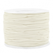 Coloured elastic cord 1.2mm Off White