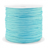 Macramé bead cord 1.5mm benefit package Turquoise Blue