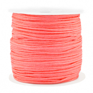 Macramé bead cord 1.5mm benefit package Coral Red