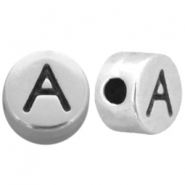 DQ European metal beads silver DQ European metal letter beads antique silver