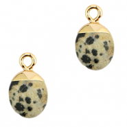 Natural stone charms Greige-Gold