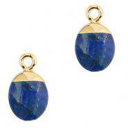 Natural stone charms Dark Blue-Gold
