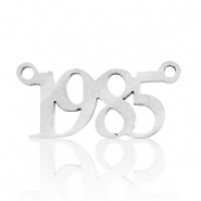 Stainless steel charms/connector year 1985 Silver