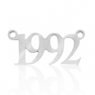 Stainless steel charms/connector year 1992 Silver