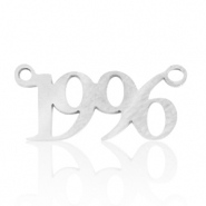 Stainless steel charms/connector year 1996 Silver