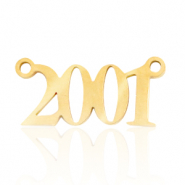 Stainless steel charms/connector year 2001 Gold