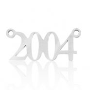 Stainless steel charms/connector year 2004 Silver