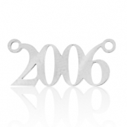 Stainless steel charms/connector year 2006 Silver