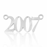 Stainless steel charms/connector year 2007 Silver