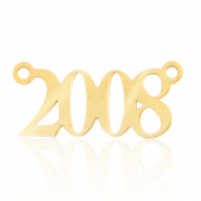Stainless steel charms/connector year 2008 Gold