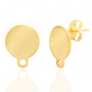 Stainless steel earrings 10mm with loop Gold