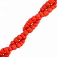 Coconut beads disc 4mm Red