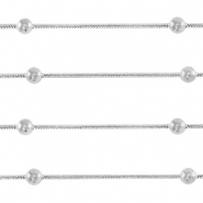 Stainless Steel findings belcher chain snake chain with ball Silver
