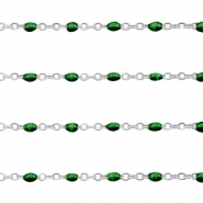 Stainless steel findings belcher chain 1mm Ultramarine Green-Silver