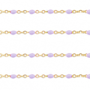 Stainless steel findings belcher chain 1mm Grapevine Purple-Gold