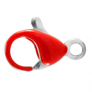 Stainless steel findings lobster clasp 10mm Samba Red-Silver