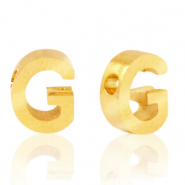 Stainless steel beads letter G Gold