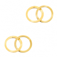 Stainless steel charms/connector double circle Gold