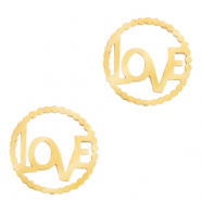 "Stainless steel charms/connector ""LOVE"" Gold"