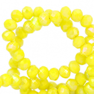 Top faceted beads 3x2mm disc Citrine Yellow-Diamond Coating