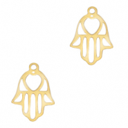 Stainless steel charms Hamsa hand Gold