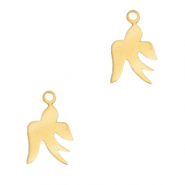 Stainless steel charms swallow Gold