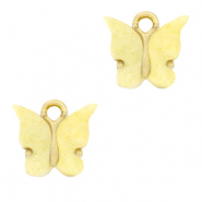 Charm with 1 loop butterfly Yellow-Gold