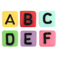 Acrylic letter beads mix Multicolour