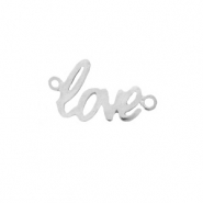"DQ European metal charms connector ""love"" Antique Silver (nickel free)"