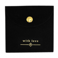 "Jewellery Bag ""with love"" Black-Gold"