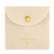 "Jewellery Bag ""with love"" Beige-Gold"