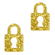 Plexx charms lock glitter Golden Yellow