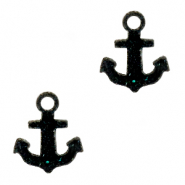 Plexx charms anchor shimmery Black