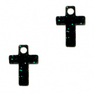 Plexx charms cross shimmery Black