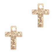 Plexx charms cross glitter Rose Peach