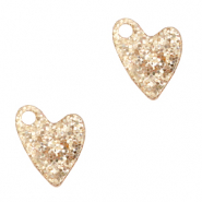 Plexx charms heart glitter Rose Peach