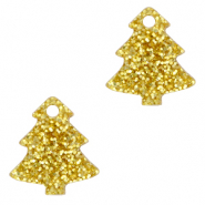 Plexx charms Christmas tree glitter Golden Yellow