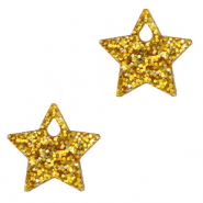 Plexx charms star glitter Golden Yellow