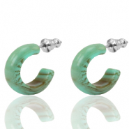 Earrings Creole Polaris Elements 18mm Green Ash