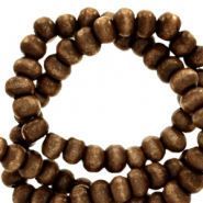 Wooden beads round 8mm Chocolate Brown