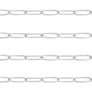 DQ European metal findings belcher chain anchor cable Silver (nickel free)