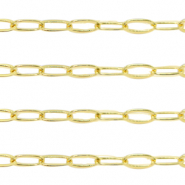 DQ European metal findings belcher chain anchor cable Gold (nickel free)