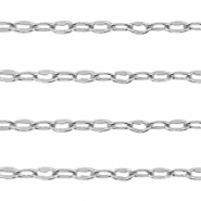 DQ European metal findings belcher chain anchor cable Antique Silver (nickel free)
