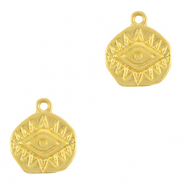 DQ European metal charms Eye of Providence Gold (nickel free)