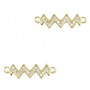 Zirconia connector zigzag Gold