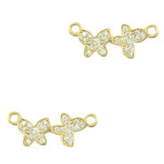 Zirconia connector butterflies Gold