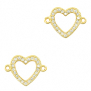 Zirconia connector heart Gold